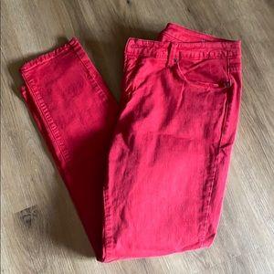 Red Skinny Jeans, Sz 18W